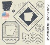 retro vintage postage stamps... | Shutterstock .eps vector #564484540