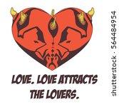 illustration of horned entity...   Shutterstock .eps vector #564484954