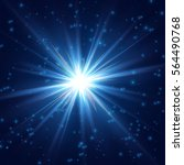 cosmic radiant shining star | Shutterstock .eps vector #564490768