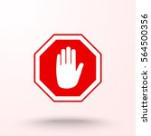 no entry hand sign icon  vector ... | Shutterstock .eps vector #564500356