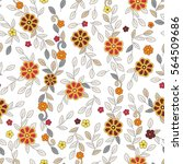 floral seamless vector trendy... | Shutterstock .eps vector #564509686