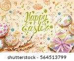 template vector card with... | Shutterstock .eps vector #564513799