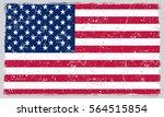 grunge american flag.vector... | Shutterstock .eps vector #564515854