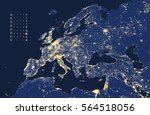 vector illustration of europe... | Shutterstock .eps vector #564518056