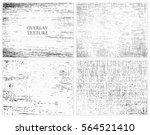 grunge overlay textures.vector... | Shutterstock .eps vector #564521410