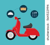scooter food delivery related... | Shutterstock .eps vector #564522994