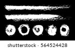 brush  chalk strokes  circles.... | Shutterstock .eps vector #564524428