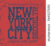 new york  typography fashion  t ... | Shutterstock .eps vector #564527050