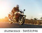 Motorcycle On Sunset