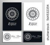 black and white mandala round...   Shutterstock .eps vector #564532354