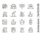 vector icons set of the coffee... | Shutterstock .eps vector #564535438