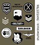 set of military and army badge... | Shutterstock .eps vector #564535786