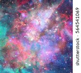 nebula and stars in outer space.... | Shutterstock . vector #564541069
