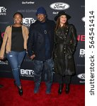 "Small photo of LOS ANGELES - JAN 23: Guest, Bobby Brown, Alicia Etheredge at the BET's ""The New Edition Story"" Premiere Screening at Paramount Studios on January 23, 2017 in Los Angeles, CA"