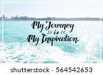 inspiration quote. | Shutterstock . vector #564542653