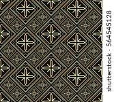 seamless pattern in art deco... | Shutterstock .eps vector #564545128