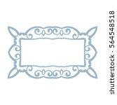 rectangular frame isolated... | Shutterstock .eps vector #564548518
