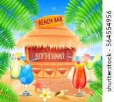 beach bar | Shutterstock .eps vector #564554956