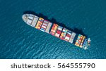 container ship in export and... | Shutterstock . vector #564555790