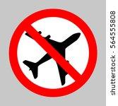 no airplane sign illustration....   Shutterstock .eps vector #564555808