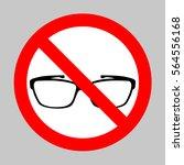 no glasses sign illustration....   Shutterstock .eps vector #564556168