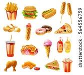 fast food restaurant menu... | Shutterstock .eps vector #564556759