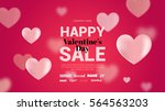 modern flyer with text happy... | Shutterstock .eps vector #564563203