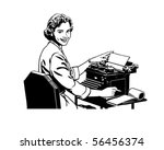retro secretary   retro clip art