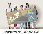 time chance valuable duration... | Shutterstock . vector #564564160