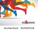 running people set of... | Shutterstock .eps vector #564569218