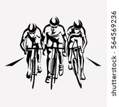 cycling race stylized symbol ... | Shutterstock .eps vector #564569236
