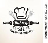 bakery stylized vector emblem... | Shutterstock .eps vector #564569260