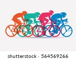 cycling race stylized... | Shutterstock .eps vector #564569266