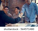 business partners... | Shutterstock . vector #564571480
