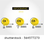 yellow linear infographic of...   Shutterstock .eps vector #564577273