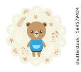 bear. vector illustration... | Shutterstock .eps vector #564579424