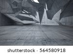 abstract interior of glass and... | Shutterstock . vector #564580918