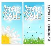 design background of spring... | Shutterstock .eps vector #564581968