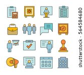 office and business icons color ... | Shutterstock .eps vector #564584680