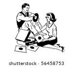 listening to records   retro... | Shutterstock .eps vector #56458753