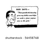bud says   retro spokesman  ... | Shutterstock .eps vector #56458768