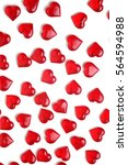 red hearts on a white background | Shutterstock . vector #564594988