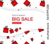 big sale banner with red boxes. ... | Shutterstock .eps vector #564599188