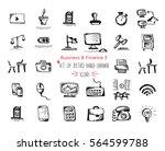 hand drawn sketch finance web... | Shutterstock .eps vector #564599788