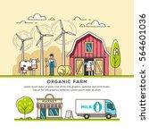 organic farm. milk production....   Shutterstock .eps vector #564601036