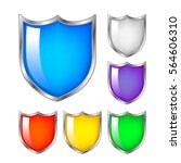 protection concept. set of... | Shutterstock .eps vector #564606310