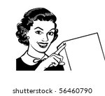 showcard lady   retro clip art | Shutterstock .eps vector #56460790