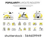 popularity modern layouts... | Shutterstock .eps vector #564609949