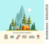 summer camp. landscape with... | Shutterstock .eps vector #564610510