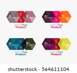 set of abstract geometric... | Shutterstock .eps vector #564611104
